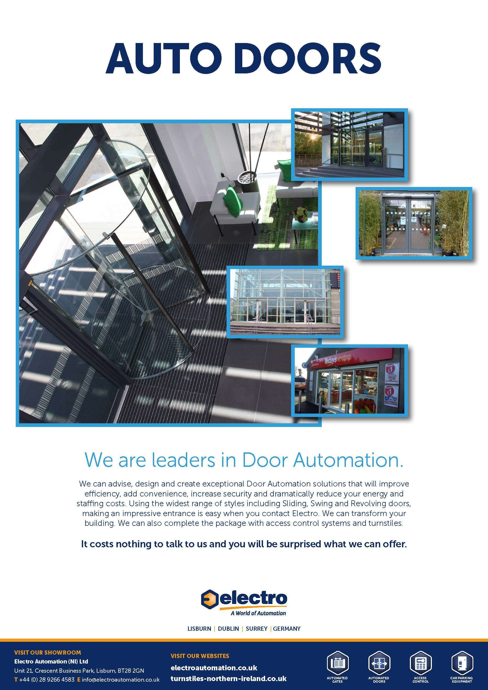 Automatic Doors Londonderry Northern Ireland